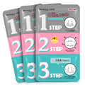 BIOAQUA 3 Step Remove Blackhead Kits To Shrink Clean Pores Nose Strips for Female/Male T Zone Care Set mascara preta cravos acne
