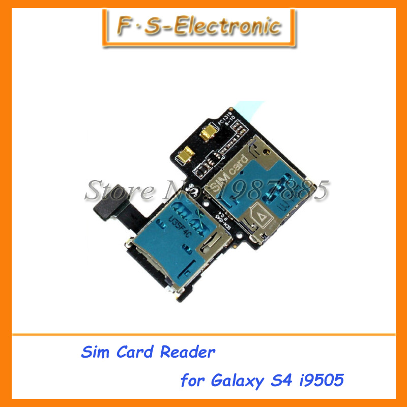For Samsung Galaxy S4 i9500 I9505 NEW Micro SD SIM Card Tray Slot Holder Reader Flex Cables Replacement Parts