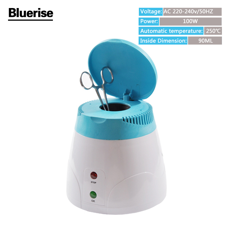 High Temperature Sterilizer Disinfection Pot Metal Nipper Tweezers Tools Clean Sterilizers Box Tool Beauty Salon Home