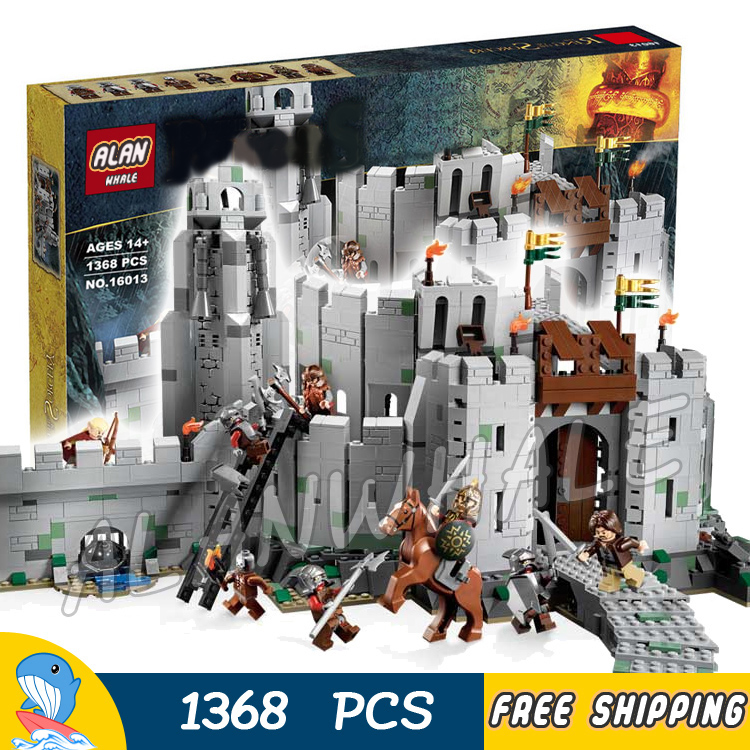 1368pcs The Lord of the Rings The Battle of Helms Deep Fortress 16013 Model Building Blocks Toys Bricks Compatible with Lego