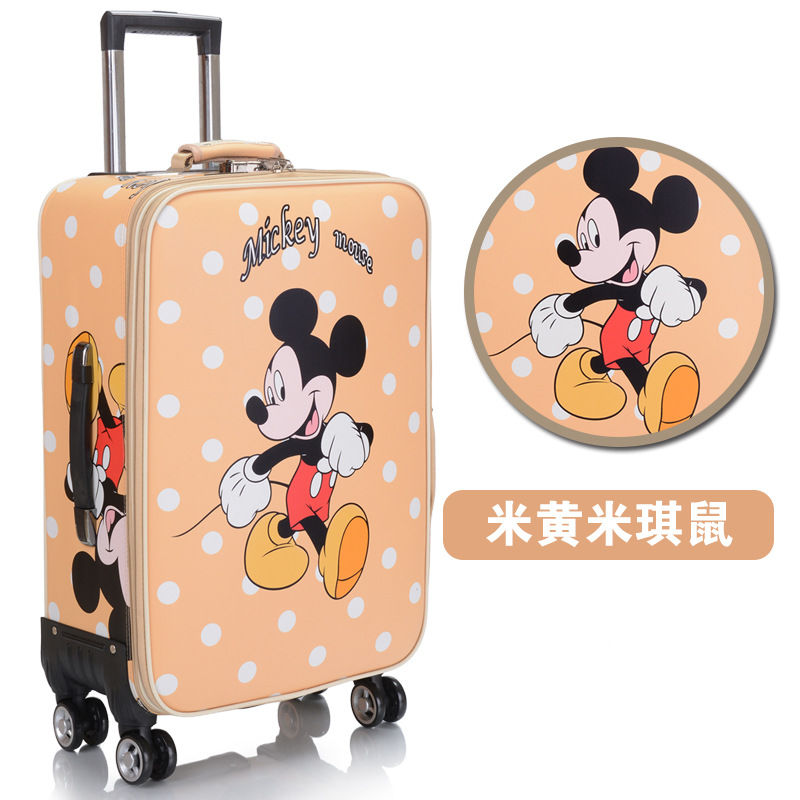 "Oxford trolley suitcase wheel luggage business large cartoon suitcase 20-24 ""pu luggage men / women waterproof travel suitcase"