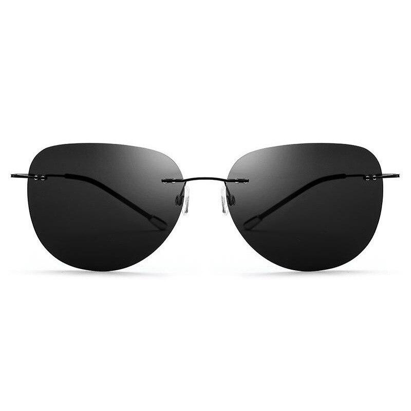 Image 3 - HDCRAFTER 9g Ultralight Rimless Sunglasses Titanium Men Brand Designer Frameless Polarized Sun Glasses Women Screwless Eyewear-in Men's Sunglasses from Apparel Accessories