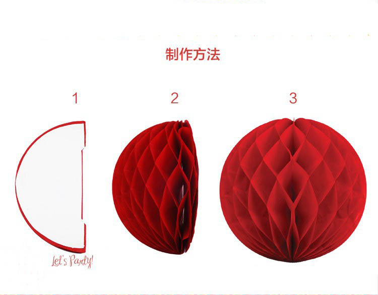 How To Make Paper Balls For Decoration Alluring 6'' Diy Tissue Paper Balls Mini Hanging Honeycomb Lantern Handmade Review