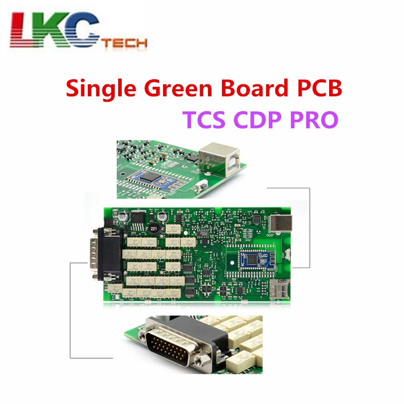 Один платы зеленый реле новый VCI с Bluetooth 2015. R3/2016. R0 версия на cd с картонной коробке TCS CDP PRO Бесплатная доставка