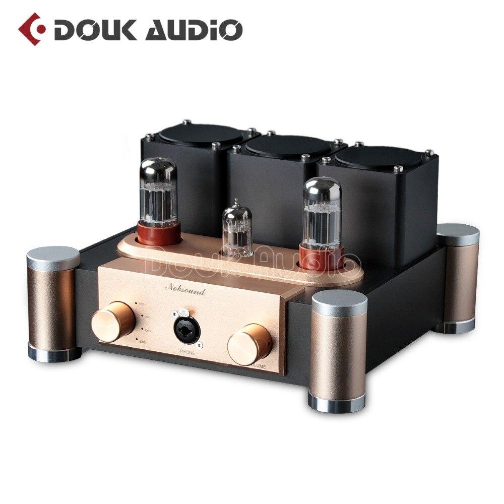 Nobsound Hi-end 6SN7+ECC83 Valve Tube Amplifier HiFi Pre-Amplifier Desktop Single-ended Class A Headphone Amp