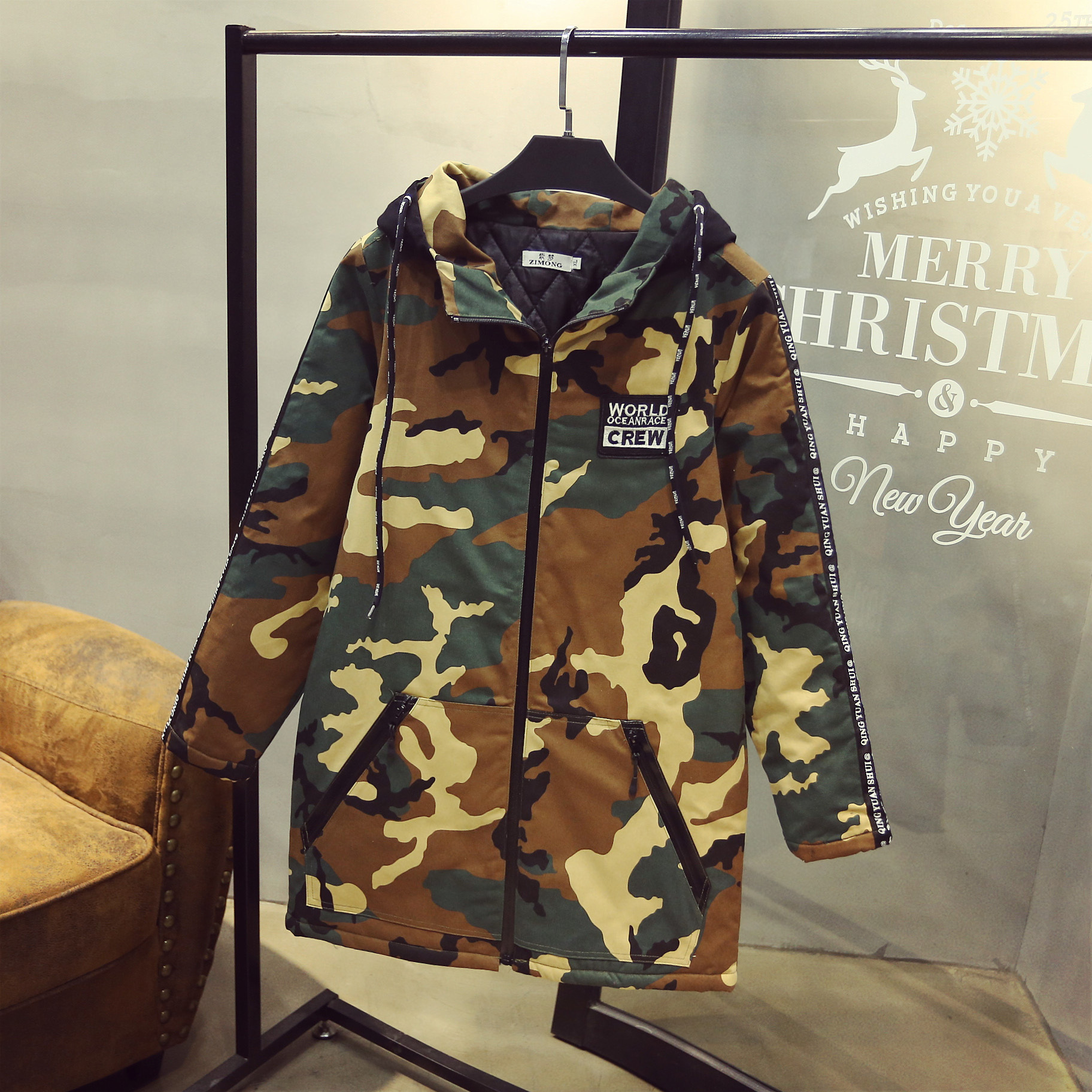 ФОТО Camouflage Women Parkas Plus Size 3XL 4XL Casual Character Pattern Warm Loose Long Parka Coats Outerwear LY50