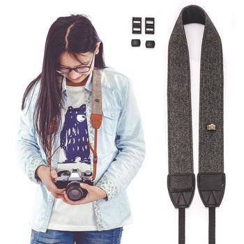 Uniwersalny aparat na ramię pasek na szyję do lustrzanek cyfrowych DSLR do aparatu Nikon Canon Sony aparat Olympus pasek na obiektyw aparatu tanie i dobre opinie CN (pochodzenie) Szyi