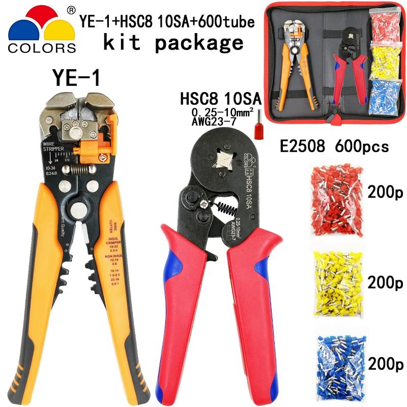 Handwerkzeuge Werkzeuge Begeistert Kit Multifunktionale Abisolieren Schneiden Draht Zangen Y1 Anzug Werkzeuge Hsc8 10sa 0,25-10mm2 Zangen Für Rohr Terminal 600 Stücke E2508 Werkzeuge