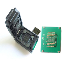 """BGA 132/152 כדי TSOP48 scoket flip דיסק U כונן מצב מוצק SSD מתכנת מתאם 1.0 מ""""מ pitch IC גודל: 12*18 14*18"""