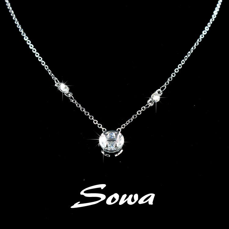 Famous brand design white with cubic zirconia stone inside pendant famous brand design white with cubic zirconia stone inside pendant necklacechain necklace for women in pendant necklaces from jewelry accessories on aloadofball Image collections