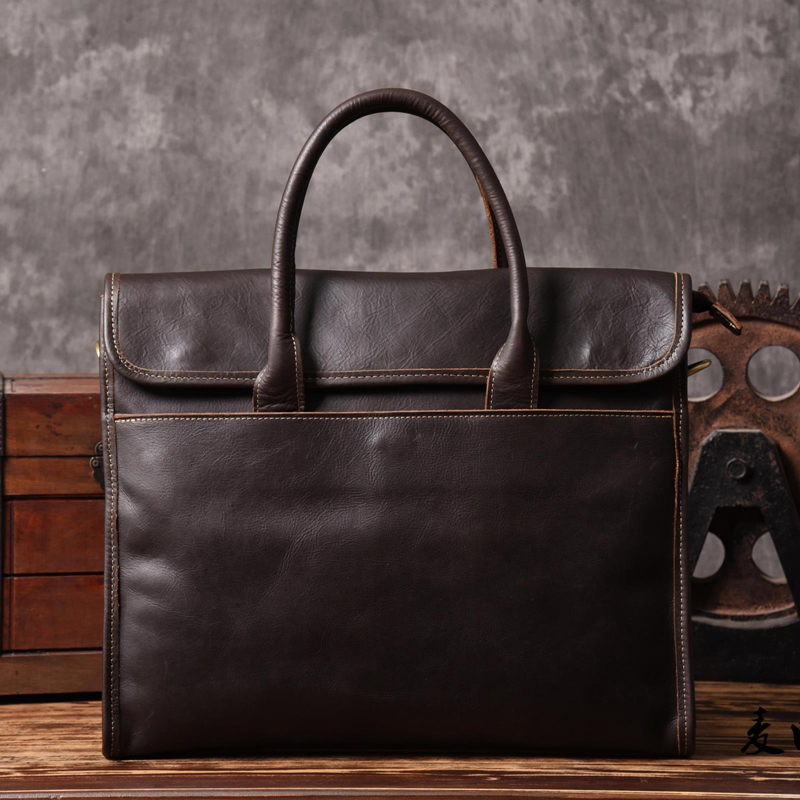 2017 Crazy Horse Genuine Leather Bag Casual Men Handbag Classic Crossbody Bag Men Travel Bag Tote