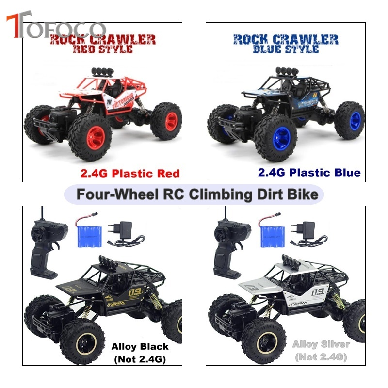 TOFOCO New Four-Wheel Drive Rc Car Climbing Dirt Bike Buggy Radio 2.4G Remote Control High Speed Racing Car Model Toys For Kids