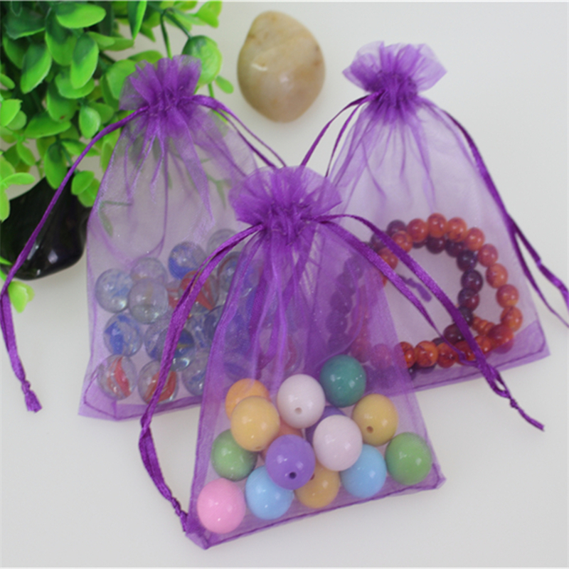 Wholesale 100pcs/lot 13*18cm Purple Organza Jewelry Gift Pouches Favor Wedding Packaging ...