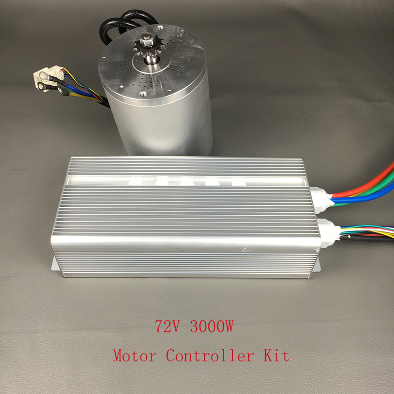 цена Wholesale Electric Bike Conversion Kit 72V 3000W BLDC Brushless Motor With 24 Mosfet 50A Controller For Scooter Motorcyc Engine онлайн в 2017 году