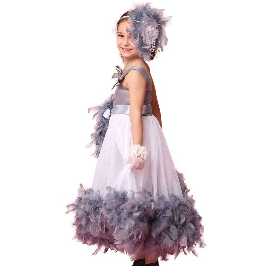20e320284ae3d fashion children flower girls' dresses for wedding and party robe ceremonie fille  mariage enfant dress ceremony girl grey gowns-in Dresses from Mother ...