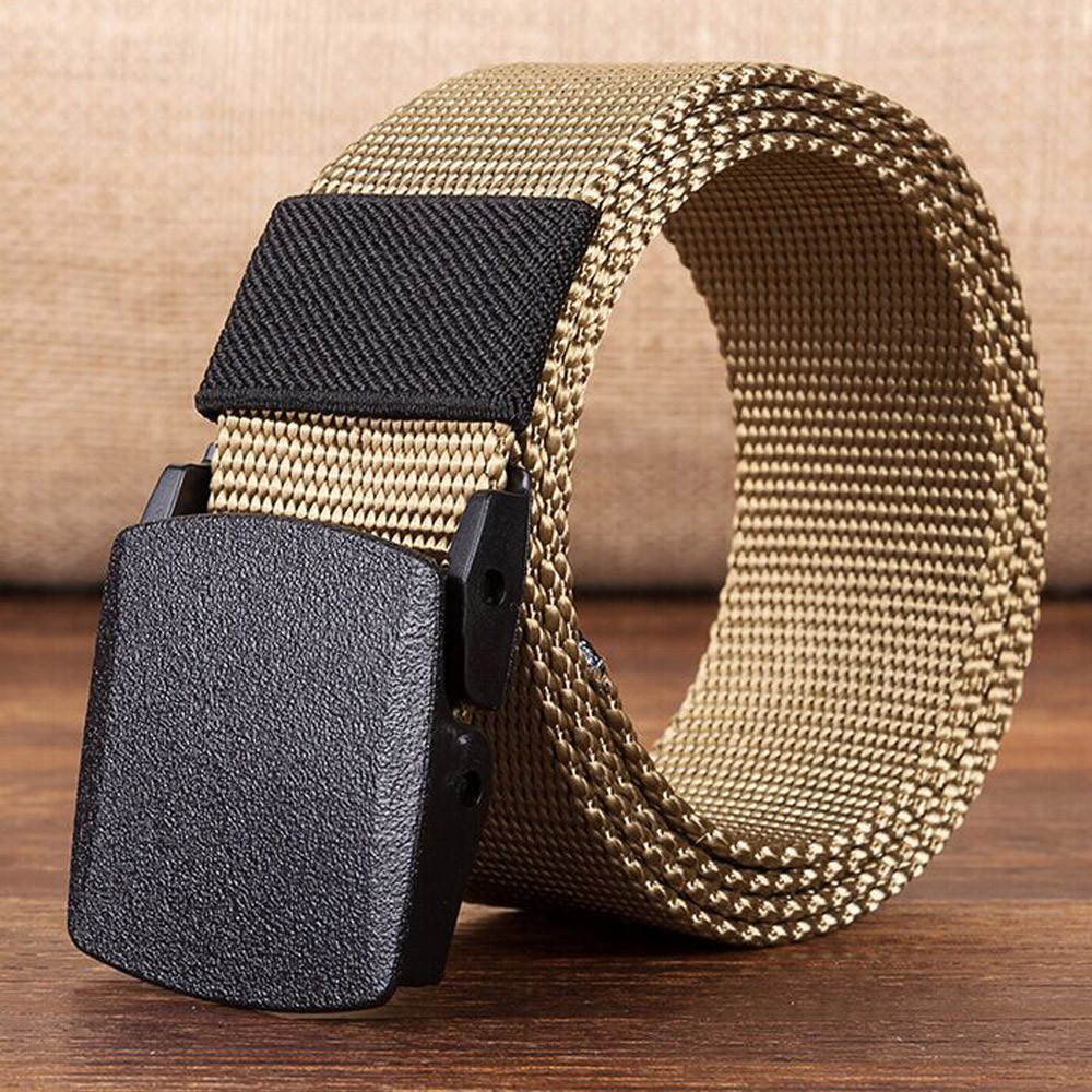 Canvas 2018 Hot Tactical Casual   Belts   Men's Fashion Wild Korean Thicken Long Cloth   Belts   Male Knitted Waistband Ceintures Homme