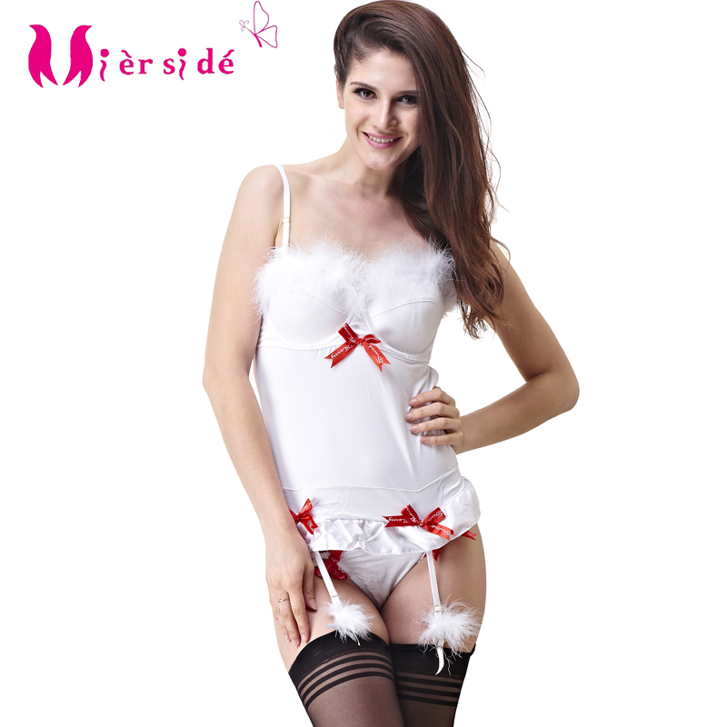 Mierside Christmas Women Bra Set Push Up Cup Sexy Lingerie Set 30 32 34 36 38B/C/D/DDD/E Free Shipping