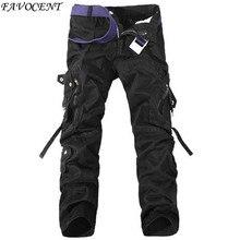 2016 Весна случайные нескольких карман комбинезоны брюки мужчины длинные брюки плюс размер брюки Грузовой Камо Боевая Рабочие Брюки Брюки