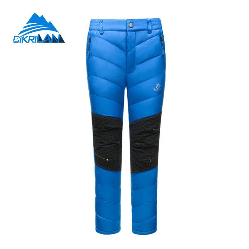 Winter Children Outdoor Camping Hiking Down Pants Boys Girls Trekking Climbing Leisure Skiing Snowboard Thermal Kids