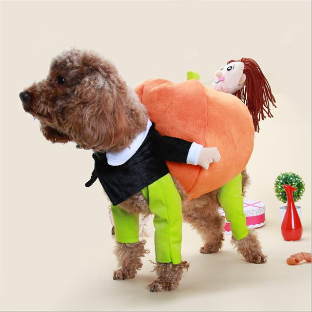 halloween pet dog clothes costumes dog pumpkin coat clothes suit puppy apparel cosplay plush doggy clothing