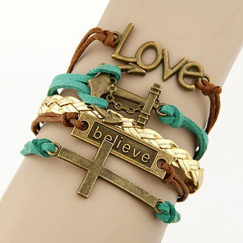 Leather Charm Bracelet - all mixed