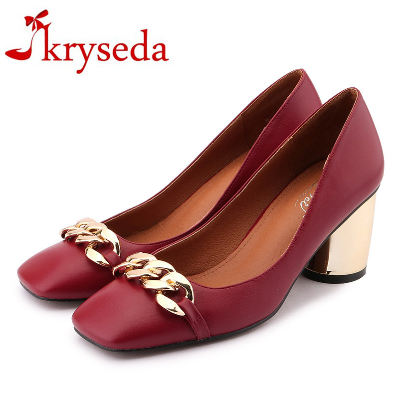 ФОТО New Fashion 2017 Slip On Women Pumps High Quality Thick High Heels Ladies Sexy chaussure femme Platform Shoes Woman Zapato Mujer