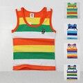 Alta calidad ropa de verano para niños chicos chicas del niño del bebé niño grande ropa de los niños sin mangas 100% algodón chaleco de la camiseta