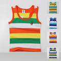 high quality kids summer clothing for boys girls  baby toddler big boy clothes  children sleeveless 100% cotton vest  t shirt
