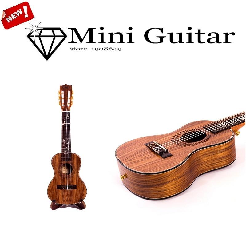 kasch MGH 30 28 inch Tiger Acacia soprano Ukulele handcraft wood mini Guitar child 6strings guitarlele