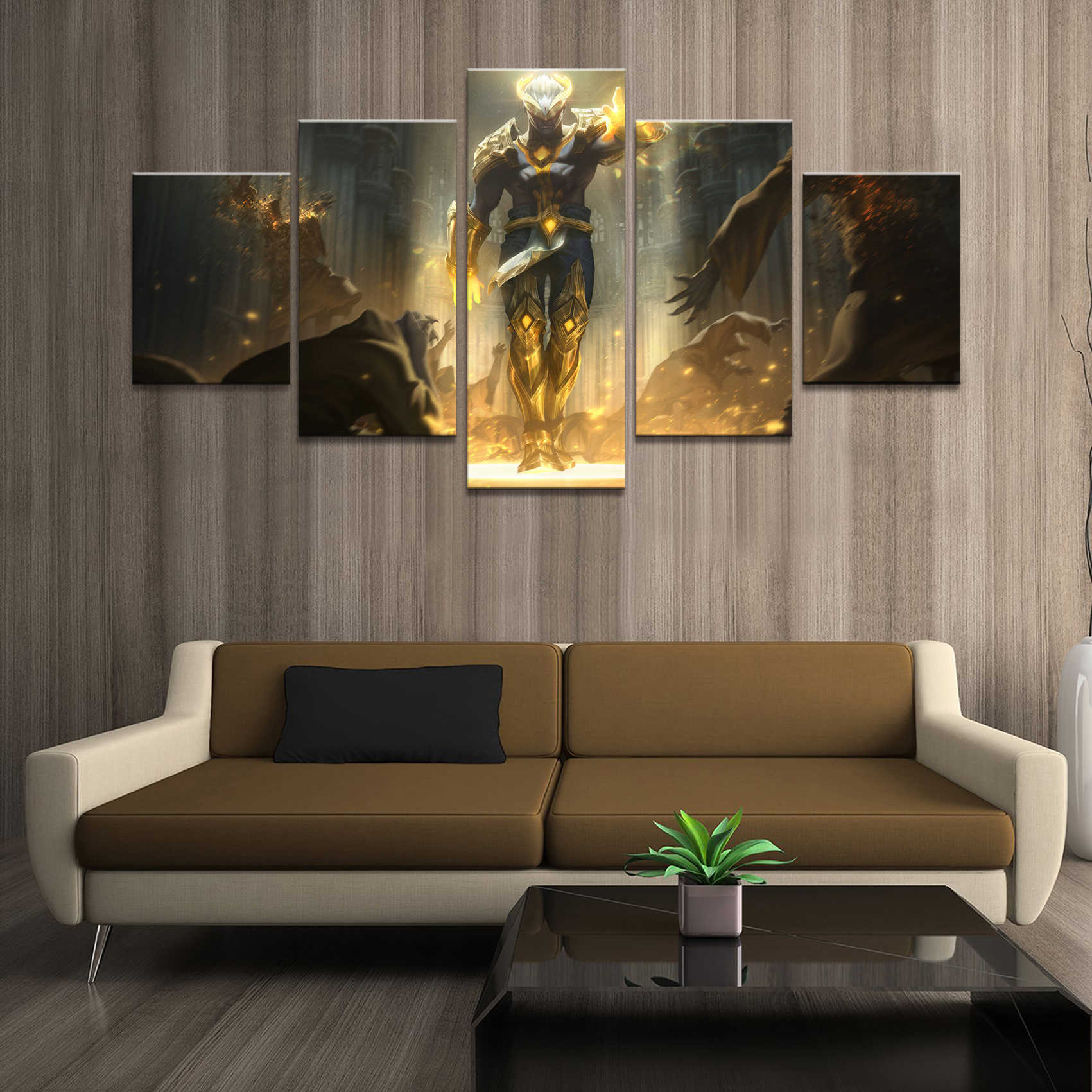 Home Decor Poster Pictures Prints Canvas 5 Piece Modular LOL League of Legends Brand Game HD Art Living Room Decorative Paintin