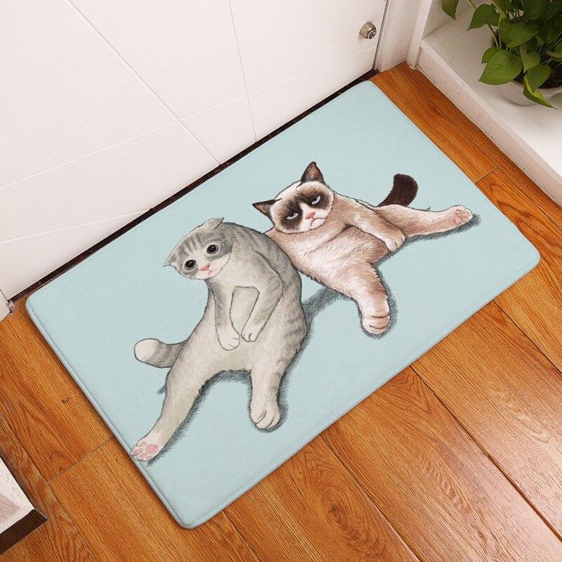 Zeegle Прочный Главная Коврики милый кот Животных Печатных Вход коврики прихожей ковры детей Спальня пол ковры прикроватный коврик для ног