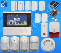 Quad Band GSM PSTN Alarm System With English German Italian Dutch Menu For Option Touch Screen