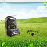 Teaching amplifier Speaker Wireless Microphone Portable Megaphone for Tour Guide External Voice Booster Loudspeaker TF U