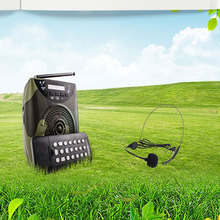Teaching amplifier Speaker Wireless Microphone Portable Megaphone for Tour Guide External Voice Booster Loudspeaker TF U disk FM