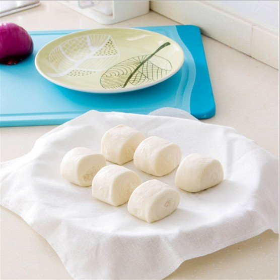 2Pcs Reusable Natural Pure Cotton Bamboo Steamer Cloth Best Quality Fabric Round Steamers Rack Gauze Pad 32*32cm Z564