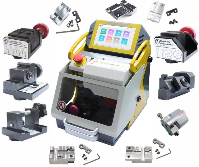 Newest SEC E9 12 Clamps CNC Automatic Key Cutting Machine For Car Keys House Keys Better