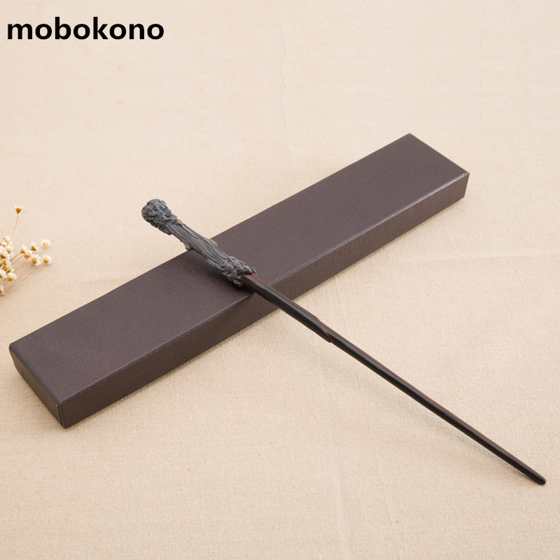 mobokono High Quality Gift Box Packing Harry Potter Metal-Core Magic Wand for Kids Cosplay Harry Potter Magical Wand