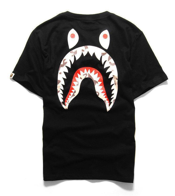 77c3757f2 Bape Shark fashion Head camo Military Print Lovers short sleeve T shirt  100% cotton 2 colors tops tees free shipping-in T-Shirts from Men's Clothing  on ...