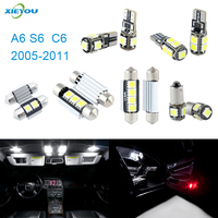 14pcs LED Canbus Interior Lights Kit Package For Audi A6 S6 S4 C6 2005 2011