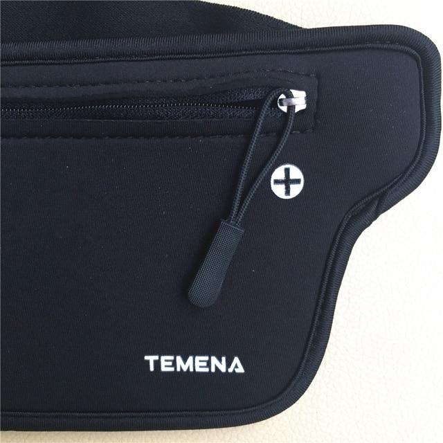 TEMENA Men Women Running Waist Belt Bag Phone Holder Jogging Belly Fanny Packs Gym Fitness Bags Sport Running Accessories 6