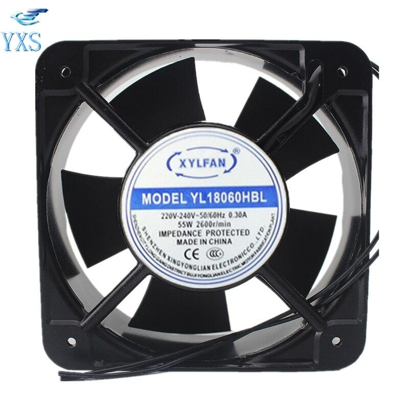 YL18060HBL AC 220V/240V 0.3A 55W 18060 18cm 180*180*60mm 50/60HZ Double Ball Bearing Cooling FanYL18060HBL AC 220V/240V 0.3A 55W 18060 18cm 180*180*60mm 50/60HZ Double Ball Bearing Cooling Fan