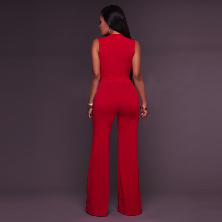 New European and American women s pants wish explosive deep V sleeveless pants in Jumpsuits from Women 39 s Clothing