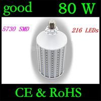 High Power 80W LED Lamp 5730 5630 SMD E27 B22 E40 E26 216 LED Corn Bulb Pendant Lighting 110V/220V Chandelier Ceiling Light 1Pcs