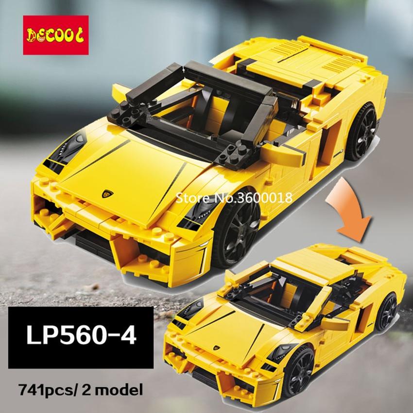 DECOOL 8611 voiture de sport de course 741 pièces Technic 2 modèle brique jouets cadeau pour enfants