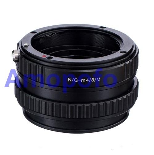 Amopofo pour Nikon G-M4/3 adaptateur pour Nikon AF AF-S G objectif vers M4/3 pour Panasonic adaptateur Macro mise au point hélicoïdal