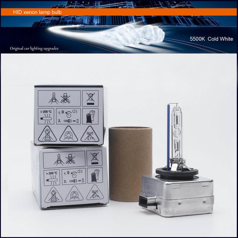 Prix pour 2016 Réel 2x Livraison Gratuite Usine Vente 100% Oem D1s Xénon froid 5500 k Ampoule Lampe Phare Pour Toutes Les Voitures Avec Boîte de Couleur
