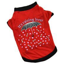 Одежда для собак, летняя футболка с рисунком дождя для щенков, маленькая одежда для кошек собак, жилет Mascotas Ropa Perros#15