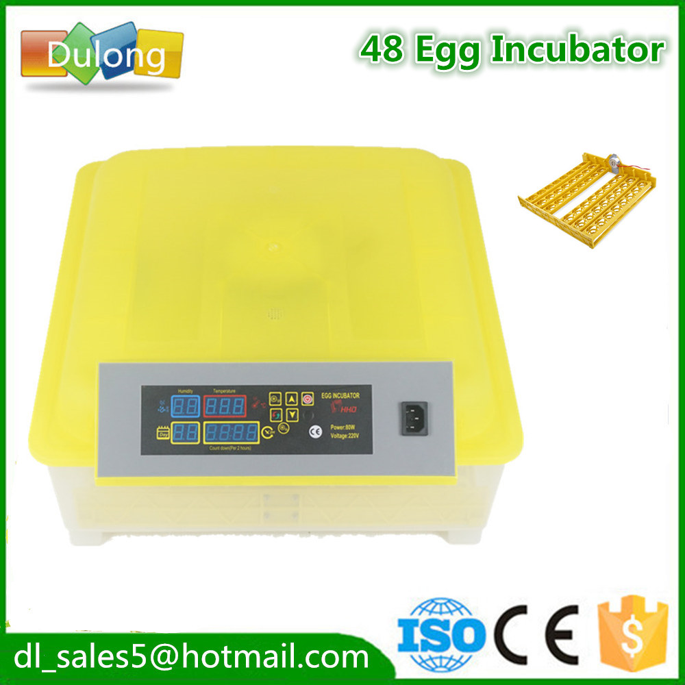 Cheap Price Poultry Hatchery Machine 48 eggs  Digital Temperature Full Automatic Egg Incubator for Chicken Duck Quail Parrot dhl ems 1pc for good quality positioning unit qd75d4 plc new