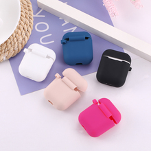 LAUFH LIFE Candy Luxury Earphone Case  for Silicone Airpods Cute For Apple Solid color