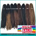 "20"" Ombre Black 30 Medium Auburn Brown Color Faux Locs Crochet Braids Pre Braided Synthetic Soft Dreadlocks Braids"